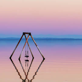 Stunning Salton Sea Swing Sunset by CyberSkaterGirl