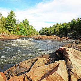 Sturgeon Chutes The Natural Divide I by Debbie Oppermann