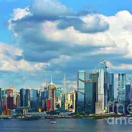 Summer Afternoon Cityscape NYC  by Regina Geoghan