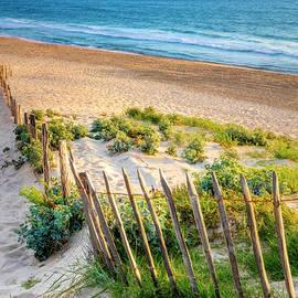 Summer Beach at Sunset by Debra and Dave Vanderlaan