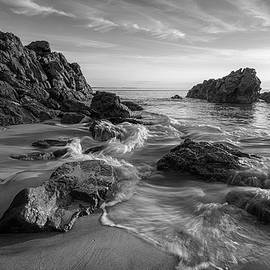 Summer Day at Marginal Way in Black and White by Kristen Wilkinson