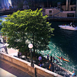 Summer Day's on the Chicago River by Frank J Casella