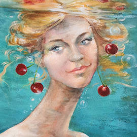 Summer Girl painting by Vali Irina Ciobanu by Vali Irina Ciobanu