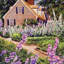 Summer Of Hollyhocks by David Lloyd Glover