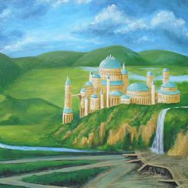 Golden Theed Royal Palace Painting, Naboo Summer Art by Aneta Soukalova