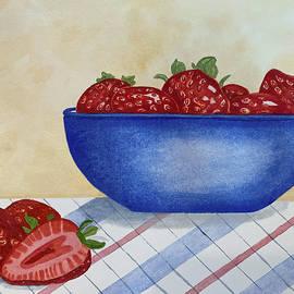 Summer Strawberries In Grandmas Kitchen by Deborah League