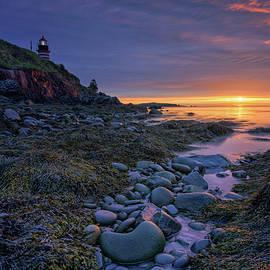 Summer Sunrise at West Quoddy Head Light by Kristen Wilkinson