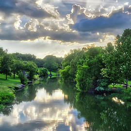 Summer Sunset on Cibolo Creek by Lynn Bauer