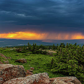 Summer thunderstorm over the Harz Mountains by Andreas Levi