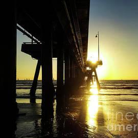 California Sunset - Sun Burst Under the Pier by S Jamieson