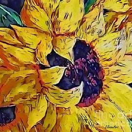 Sun Drenched Sunflower by Eloise Schneider Mote