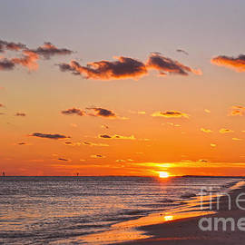 Sun Setting on Dauphin Island by Catherine Sherman
