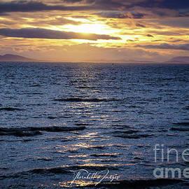 Sun Setting on White Rock by Dwayne Thornhill