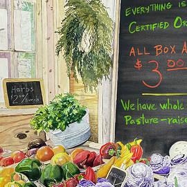Sunday at the Farmer's Market by Sonja Jones