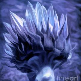 Sunflower Blues by Luther Fine Art