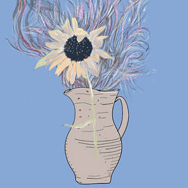 Sunflower in a vase by Marshal James