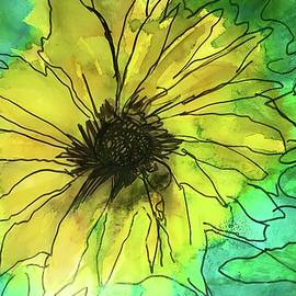 Sunflower in Alcohol Ink  by Eileen Backman
