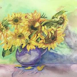 Sunflower Party by Nancy Rabe