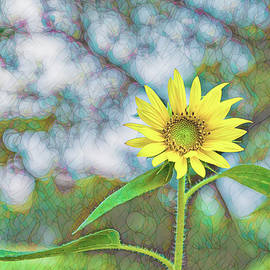 Sunflower Stained Glass by Kay Brewer
