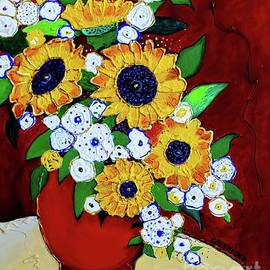 Sunflowers and Flowers by Alison Caltrider