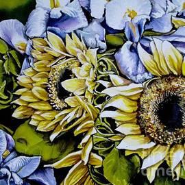 Sunflowers and Irises by Misha Ambrosia