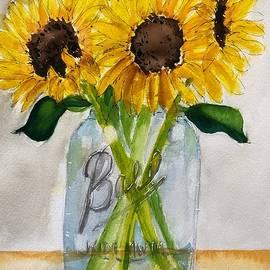 Sunflowers in a Mason Jar by Marcia Breznay