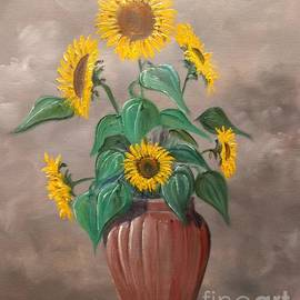 Sunflowers In A Vase by Lee Piper