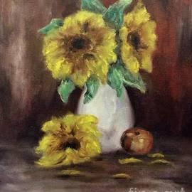 Sunflowers Make Me Smile by Cheryl Pettigrew