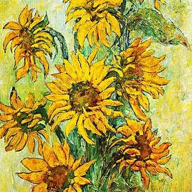 Sunflowers tribute to Vincent van Gogh by Amalia Suruceanu