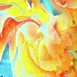 Sunlight on the ocean waves abstract by Silver Pixie
