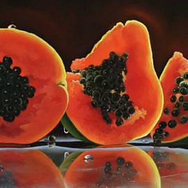 Sunlit Papaya by Katarzyna Lappin