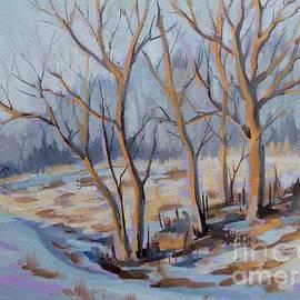Sunny Snowbank by K M Pawelec