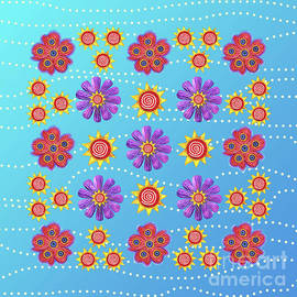 Sunny Summer Flowers by Shelley Wallace Ylst