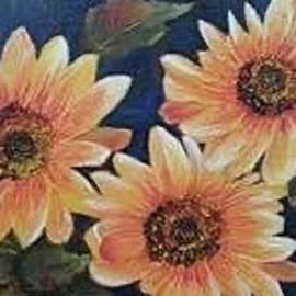 Sunny Sunflowers by Nancy Rabe