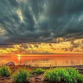 Sunrise at Mackinaw City MI GRK5128_080520194307 by Greg Kluempers