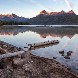 Sunrise at Redfish Lake by Belinda Greb