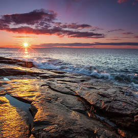 Sunrise at Reid State Park by Dave Cleaveland