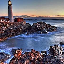 Sunrise at the Lighthouse by Steve Brown