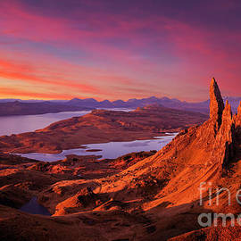 Sunrise at the Old Man of Storr, Isle of Skye, Scottish Highlands, Scotland by Neale And Judith Clark