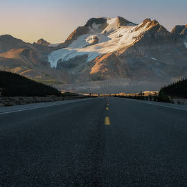 Sunrise Athabasca Glacier Icefields Parkway, Banff National Park, Alberta, Canada by Yves Gagnon