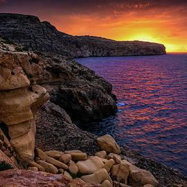 Sunrise By The Sea In Malta by Artur Bogacki
