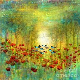 Sunrise hovering over the abstract garden by Michelle Ressler