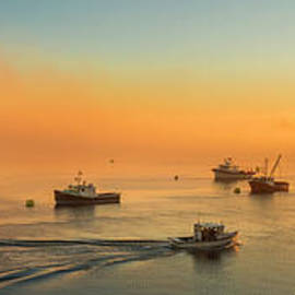Sunrise Lobster Boats by Alana Ranney
