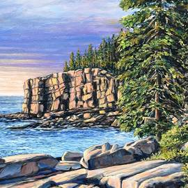 Sunrise Otter Cliff, Acadia by Eileen Patten Oliver
