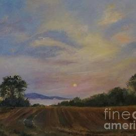 Sunrise Over a Misty Hudson River by Barbara Moak
