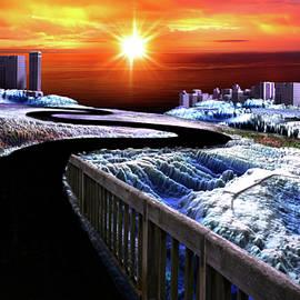 Sunrise Over Adventure City by Artful Oasis
