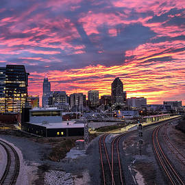 Sunrise Over Raleigh, NC by Derek Winters