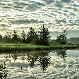 Sunrise Reflections - Tillamook - Oregon by Beautiful Oregon