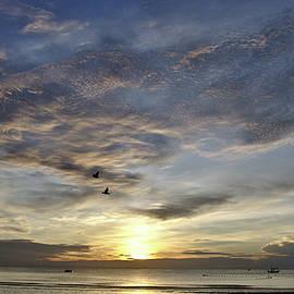 Sunrise on Huahin beach in Thailand by Tamara Sushko