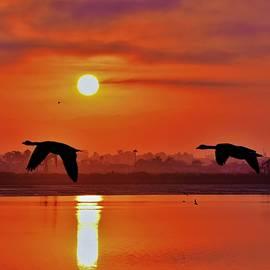 Sunrise_Fires_ California     2 by John R Williams